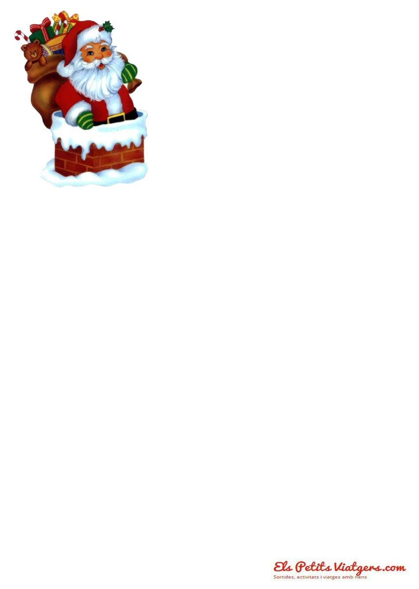 Carta Pare Noel per pintar